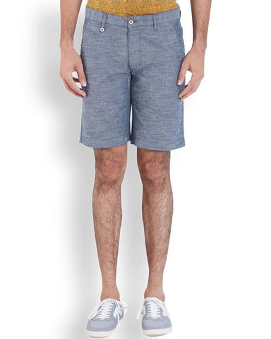 Park Avenue Dark Blue Regular Fit Short