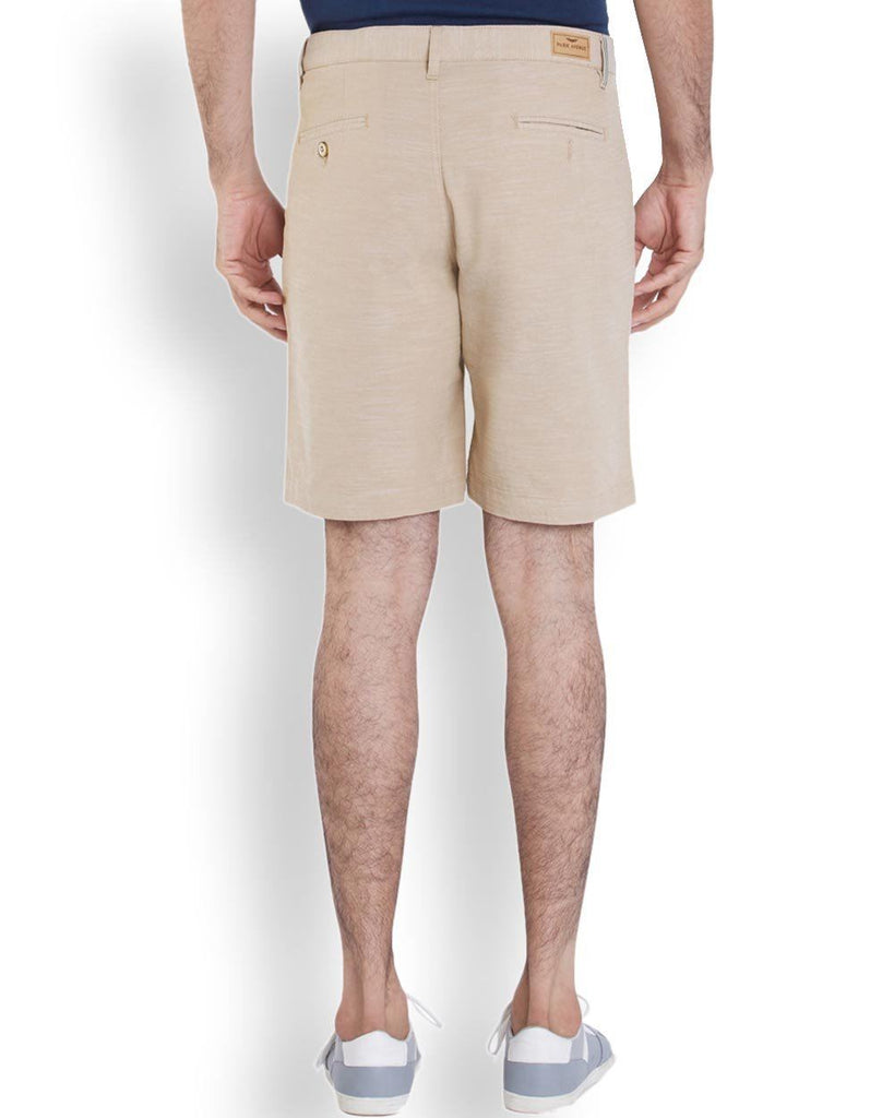 Park Avenue  Yellow Casual Fit Shorts