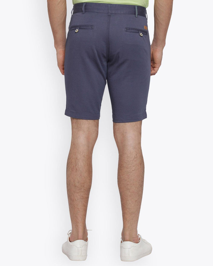Park Avenue Dark Blue Casual Fit Shorts