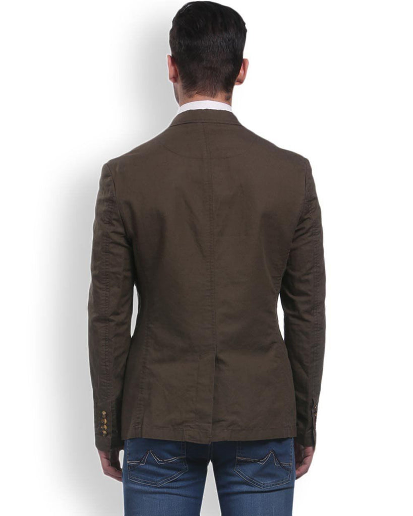 Park Avenue  Brown Regular Fit Jacket