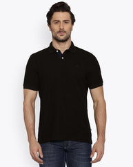 Park Avenue Black Casual Fit T-Shirt