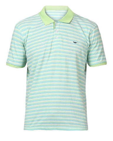Park Avenue Medium Green Casual Fit T-Shirt