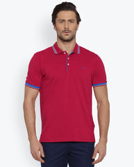 Park Avenue Dark Red Casual Fit T-Shirt