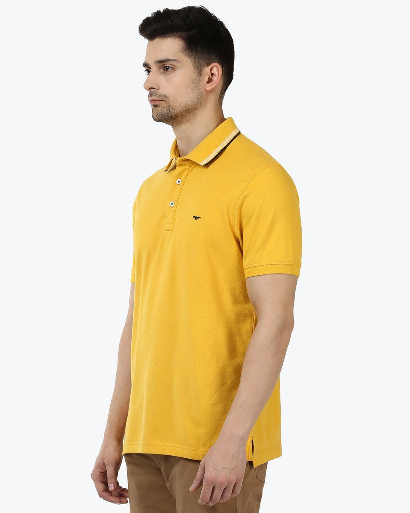 Park Avenue Yellow Regular Fit T-Shirt