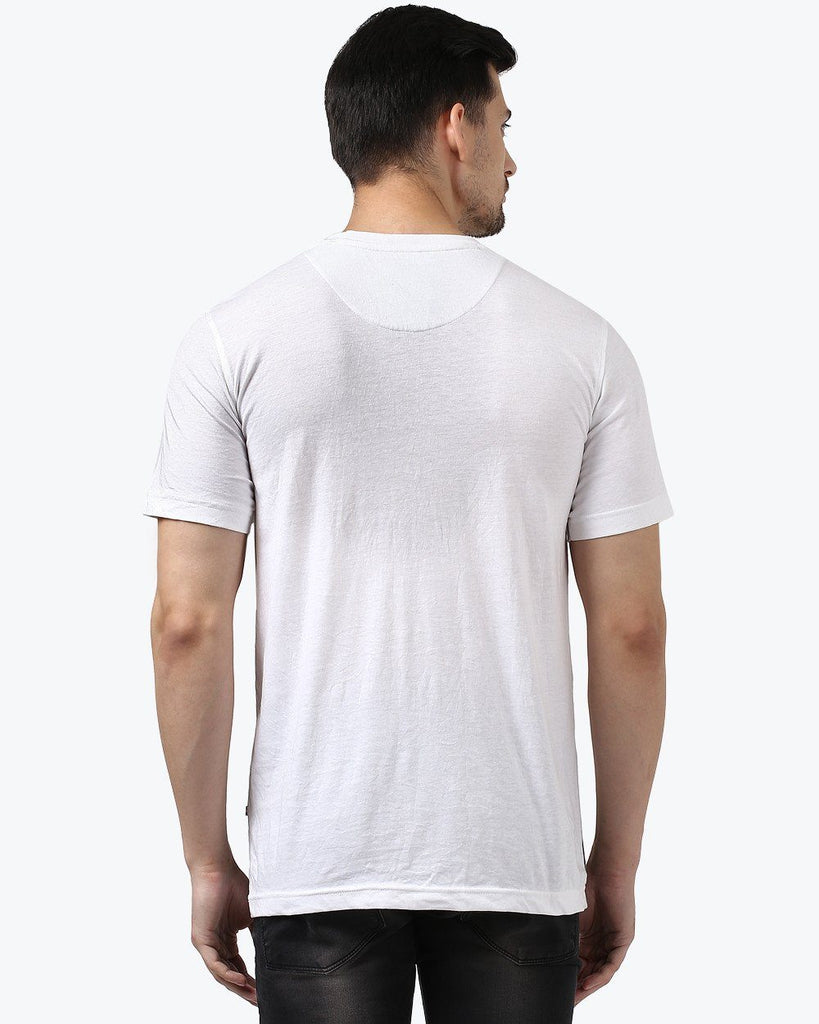 Park Avenue White Regular Fit T-Shirt