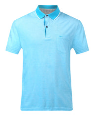 Park Avenue Aqua Blue Regular Fit T-Shirt