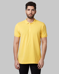 Park Avenue Light Yellow Regular Fit T-Shirt