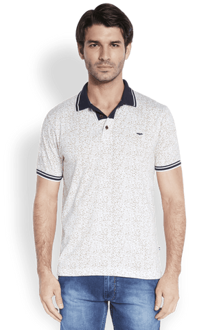 Park Avenue  Beige Casual Fit T-Shirt