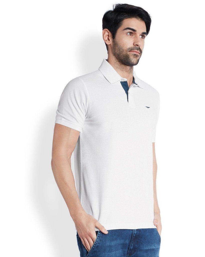 Park Avenue  White Casual Fit T-Shirt