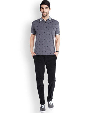 Park Avenue  Grey Casual Fit T-Shirt