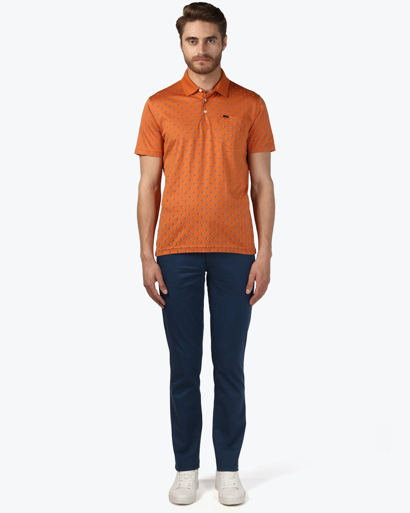 Park Avenue Dark Orange Regular Fit T-Shirt