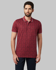 Park Avenue Dark Red Regular Fit T-Shirt