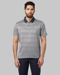 Park Avenue Dark Grey Regular Fit T-Shirt