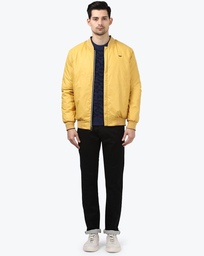 Park Avenue Yellow Regular Fit Jacket