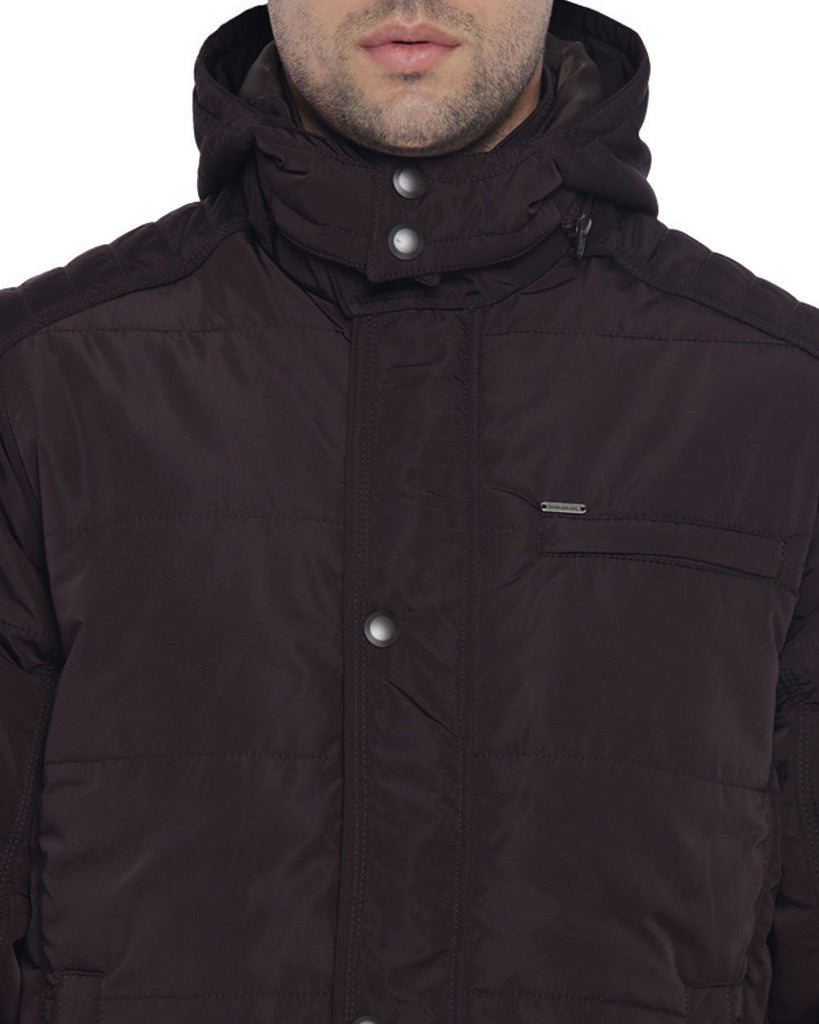 Park Avenue Men Nylon  Maroon Regular Fit OuterWear