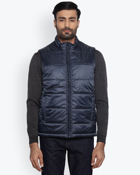 Park Avenue Dark Blue Regular Fit Outerwear