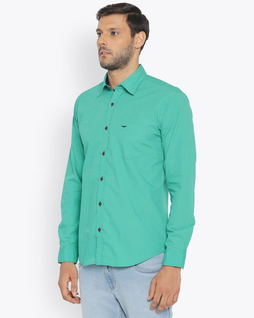 Park Avenue Medium Green Slim Fit Shirt