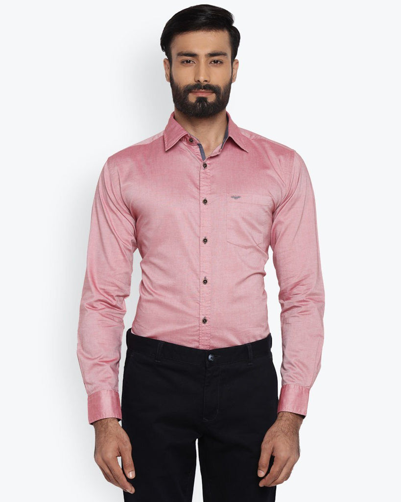 Park Avenue Medium Red Slim Fit Shirt