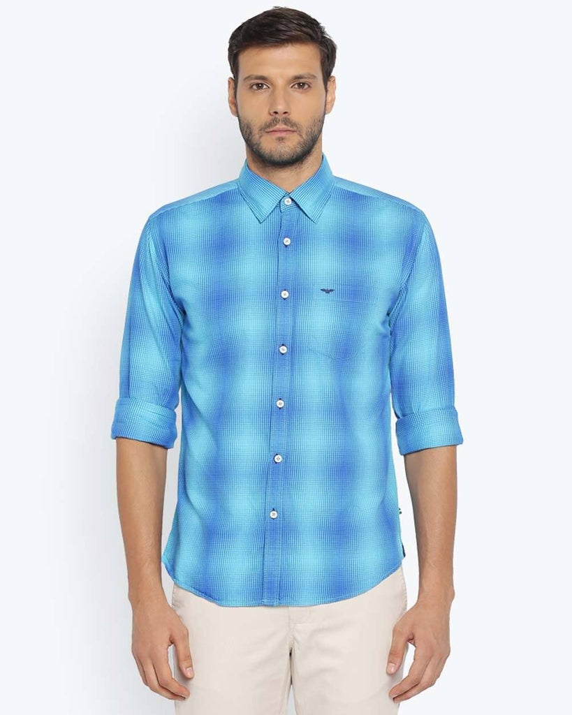 Park Avenue Medium Blue Slim Fit Shirt