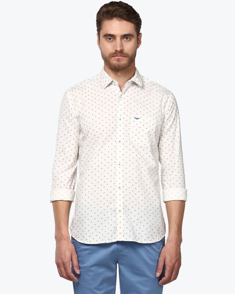 Park Avenue White Slim Fit Shirt