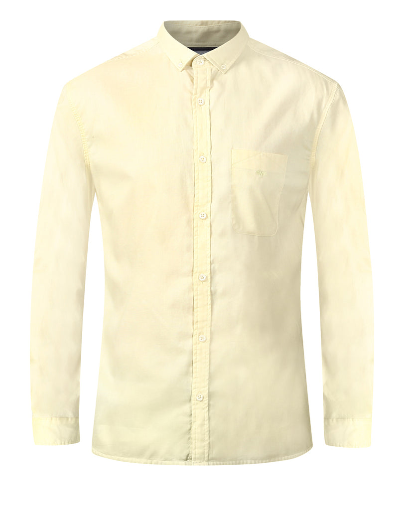 Park Avenue Yellow Slim Fit Shirt