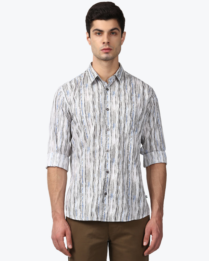 Park Avenue Multicoloured Slim Fit Shirt