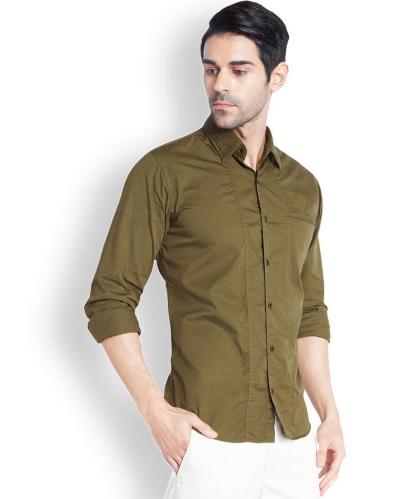 Park Avenue  Khaki Slim Fit Shirt