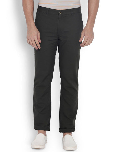 Park Avenue Men Cotton Black Slim Fit Trouser