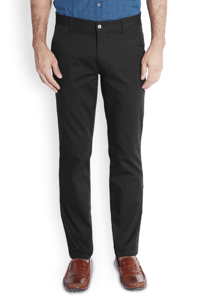 Park Avenue  Navy Blue Low Rise Tapered Fit Trouser