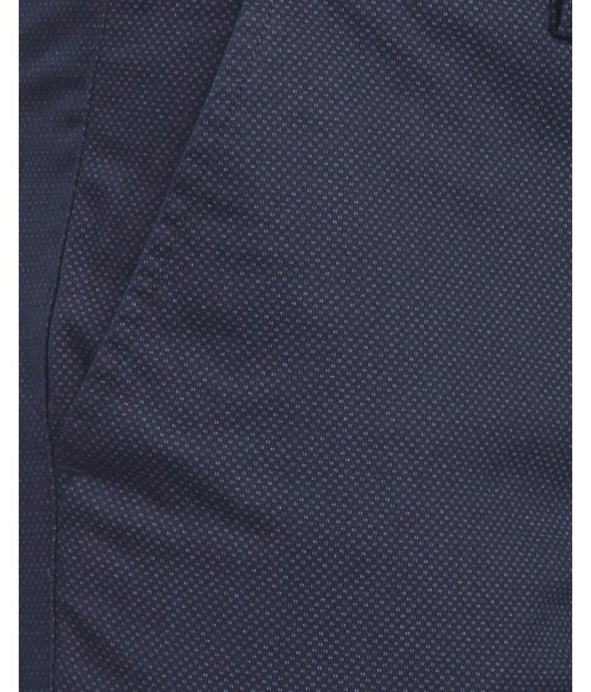 Park Avenue Blue LowRise Tapered Fit Trouser