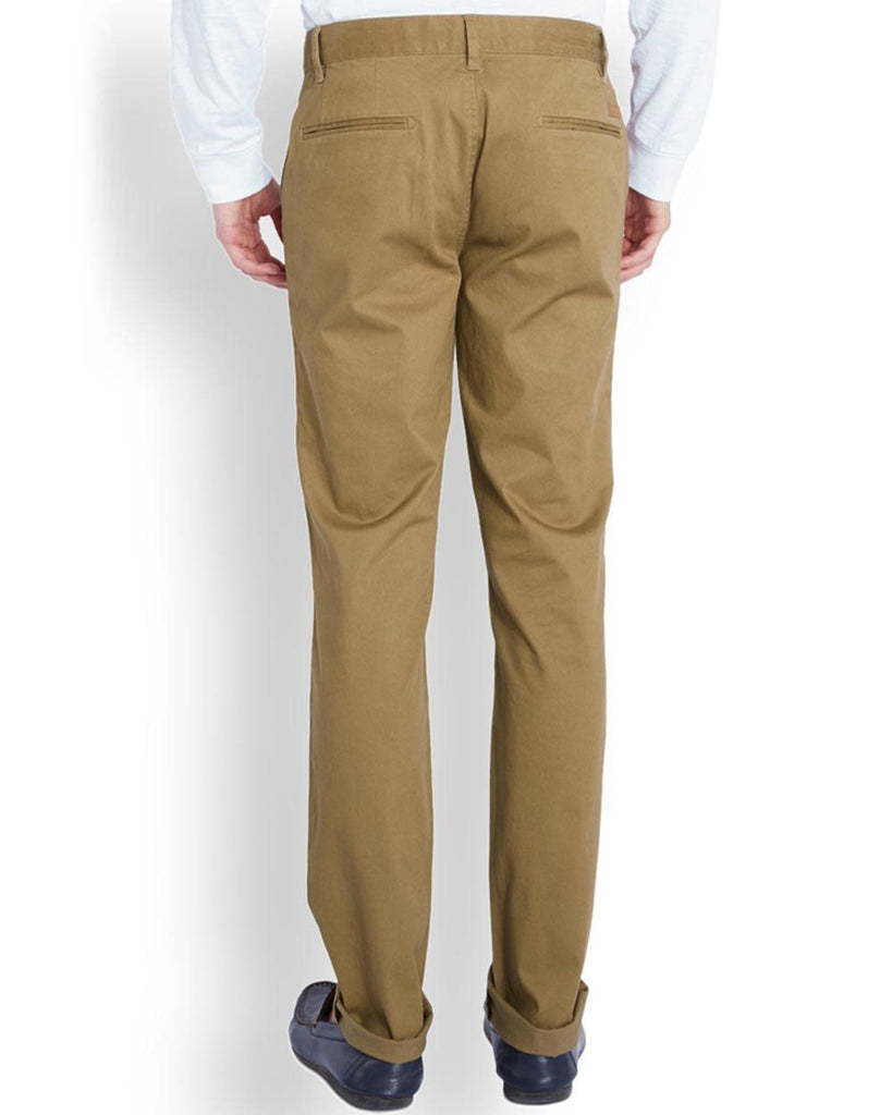 Park Avenue  Beige Low Rise Tapered Fit Trouser
