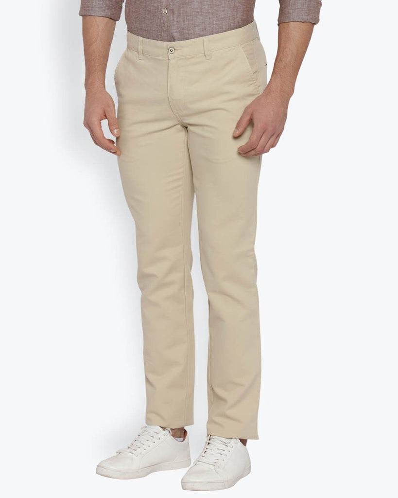 Park Avenue Beige Tapered Fit Trouser