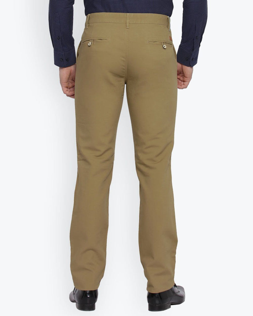 Park Avenue Khaki  Tapered Fit Trouser