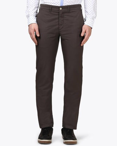 Park Avenue Dark Grey Tapered Fit Trouser