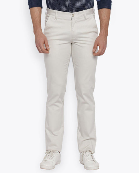 Park Avenue Off White Tapered Fit Trouser