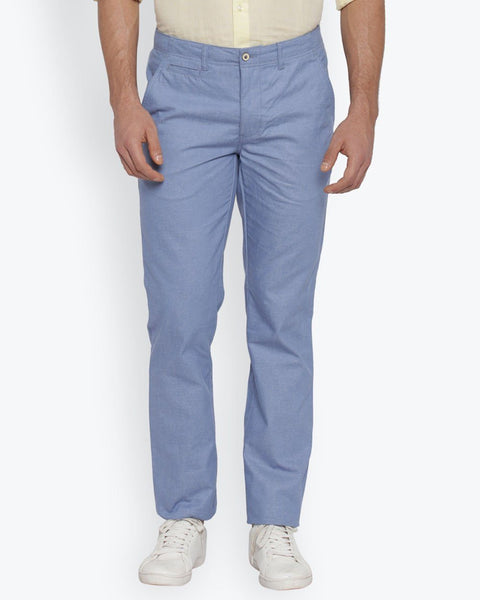 Park Avenue Light Blue Tapered Fit Trouser