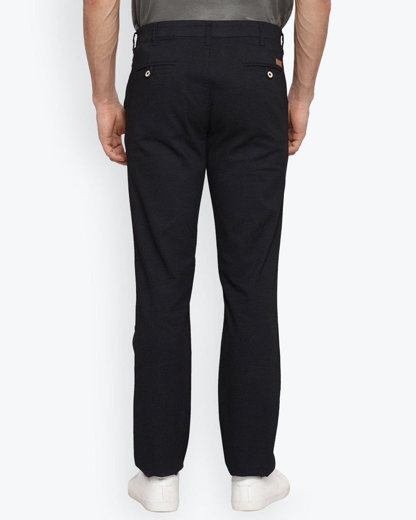 Park Avenue Black Tapered Fit Trouser