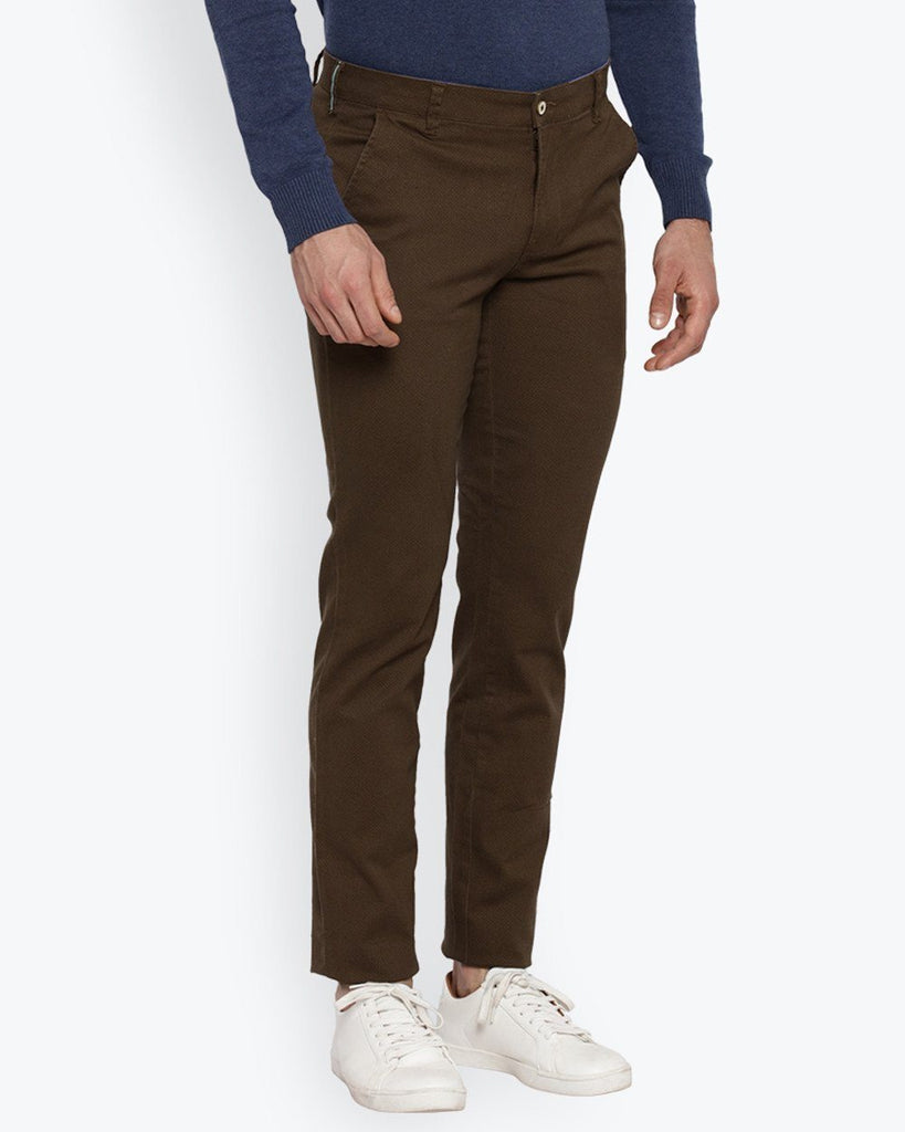 Park Avenue Medium Brown Tapered Fit Trouser