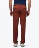 Park Avenue Dark Red Low Rise Tapered Fit Trouser