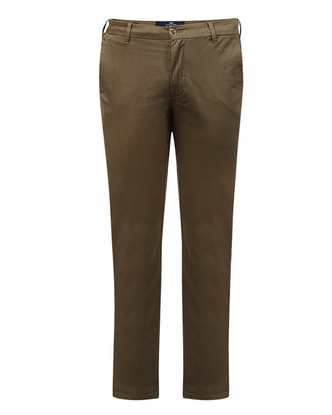 Park Avenue Brown Low Rise Tapered Fit Trouser