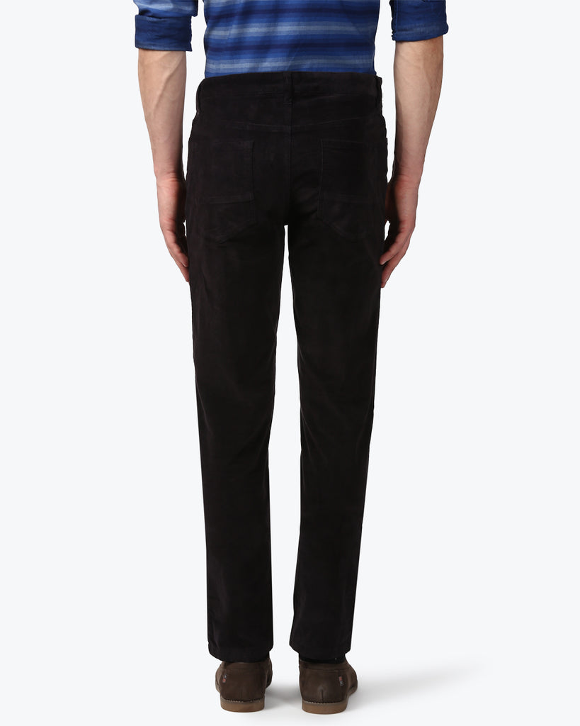 Park Avenue Black Low Rise Tapered Fit Trouser