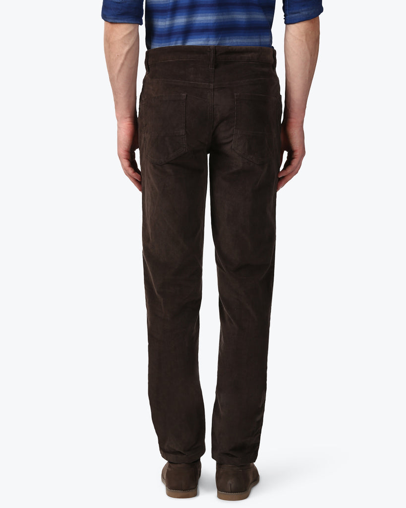 Park Avenue Dark Brown Low Rise Tapered Fit Trouser