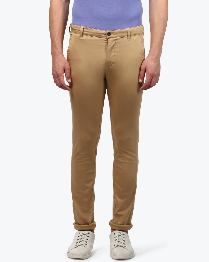 Park Avenue Fawn Low Rise Tapered Fit Trouser