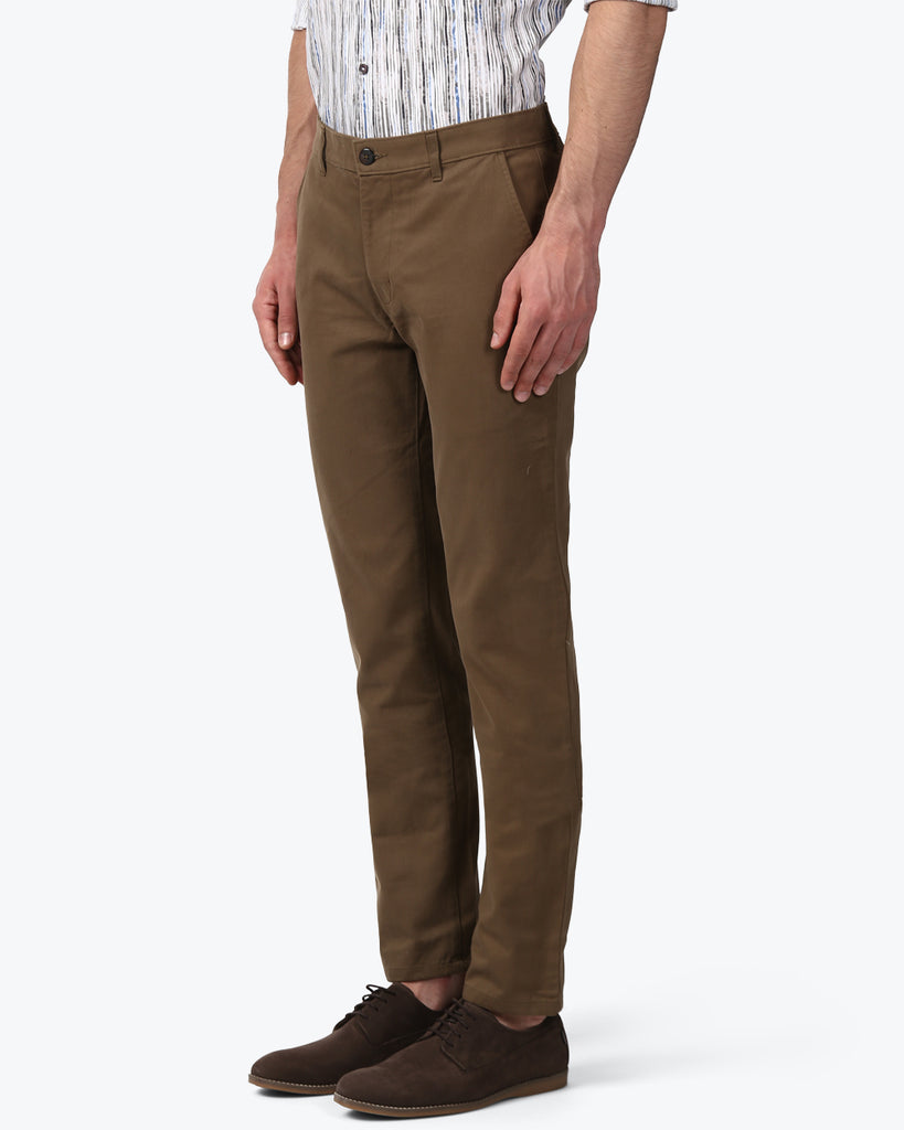 Park Avenue Brown Neo Fit Trouser