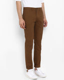 Park Avenue Dark Brown Neo Fit Trouser