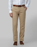 Park Avenue Light Khaki Regular Fit Trouser