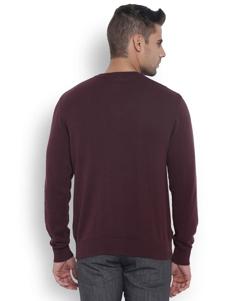 Park Avenue Men Cotton  Maroon Regular Fit Winterwear