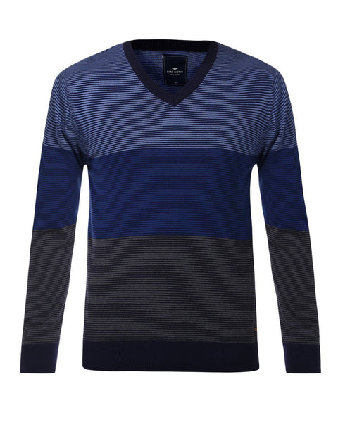 Park Avenue Blue Regular Fit Sweater