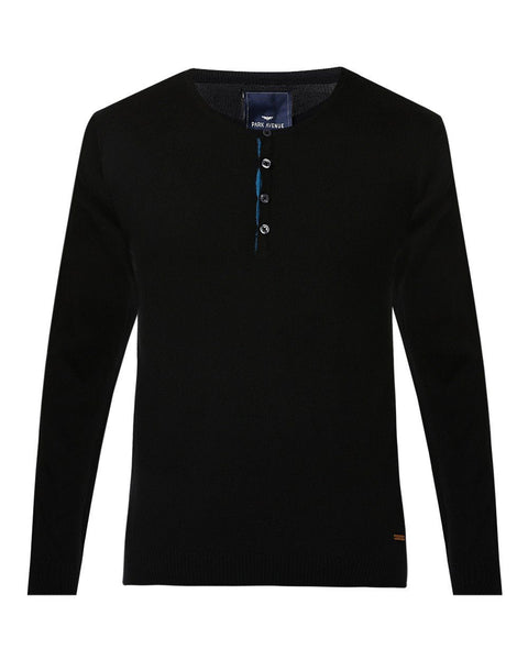 Park Avenue Black Regular Fit Sweater