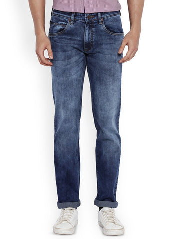 Park Avenue Dark Blue Regular Fit Jeans